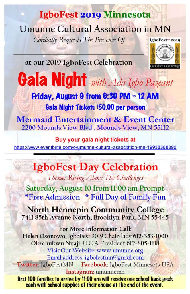 Join us to celebrate IgboFest 2019 Minnesota